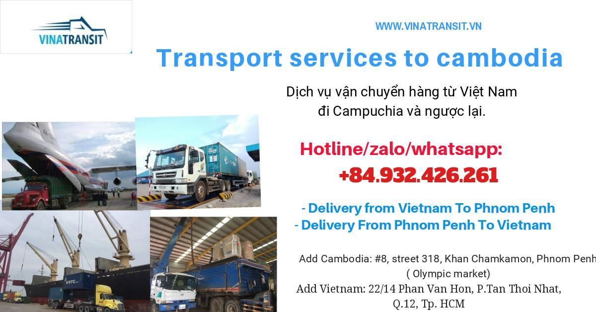 Dịch vụ vận chuyển hàng đi campuchia